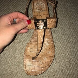 Tory Burch Tan Thong Sandals